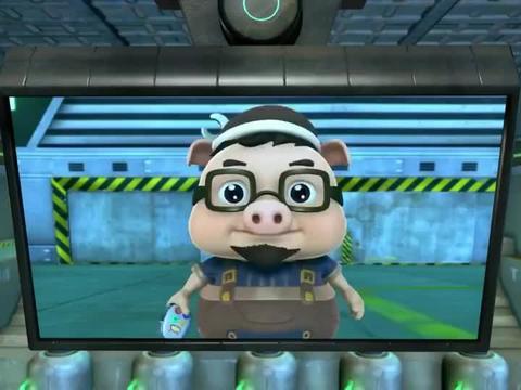 《猪猪侠》小呆呆是全队最聪明的,第一个学会开飞艇的