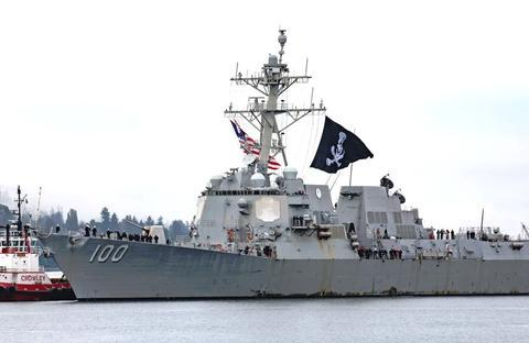美军驱逐舰挂巨幅海盗旗返回港口:该做法延续了200多年或违规