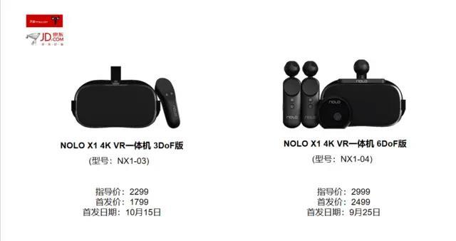 2499元NOLO X1 4K VR一体机预售 普及型VR游戏机