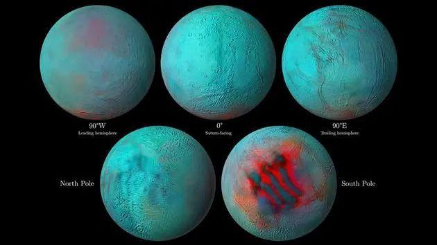 土星的海洋卫星土卫二在意想不到的地方发现了新结冰现象