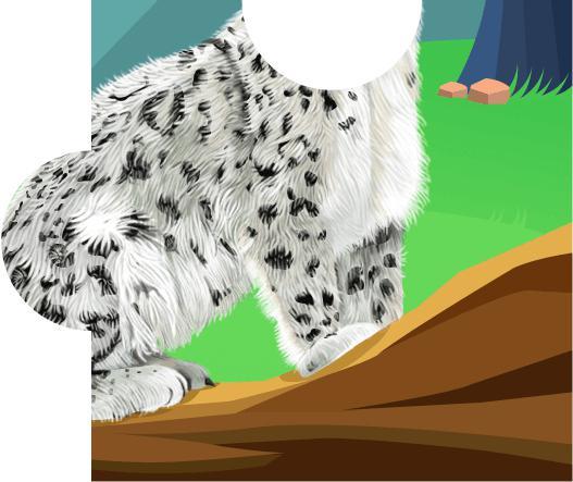 我在帮助了雪豹,掉落一块拼图碎片,据说集齐有奖励呦