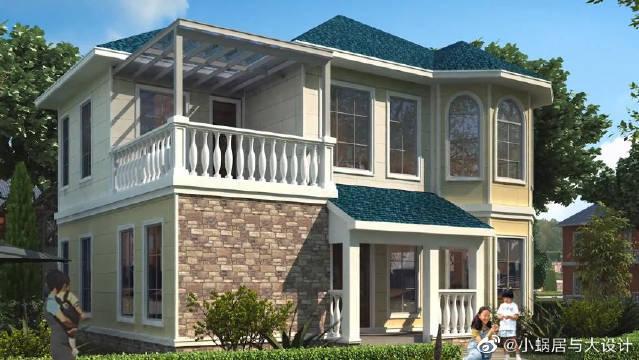 想在农村老家建房,就建这种二层小洋房