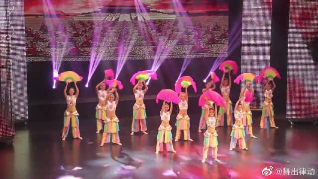 儿童扇子舞蹈视频《少儿当自强》最美民族舞!
