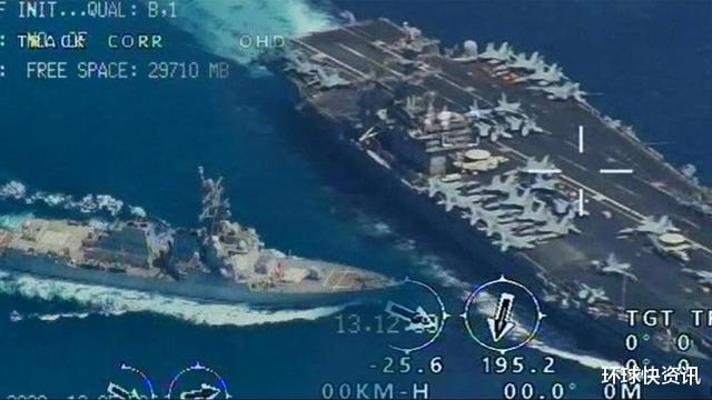 伊朗军机突破防卫,突然飞临美军航母上空,甲板拍得一清二楚
