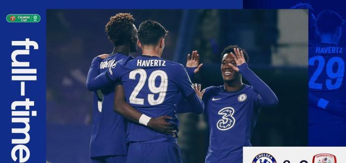 6-0!切尔西大胜晋级,哈弗茨27分钟3球,席尔瓦、奇尔韦尔首秀