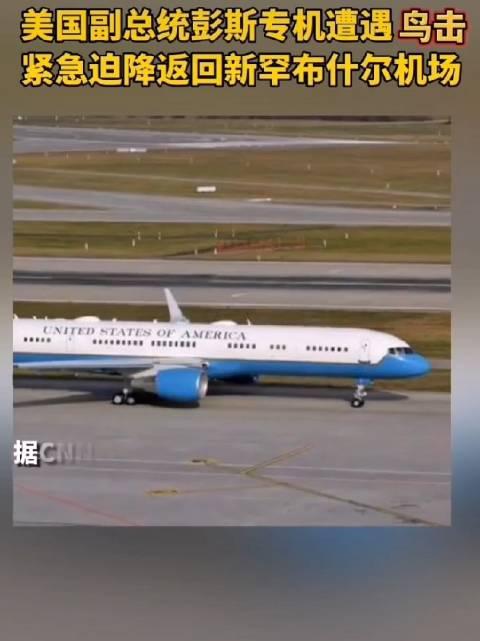 快讯!美国副总统彭斯专机遭遇鸟击,紧急迫降........