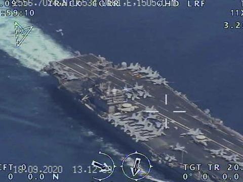 向美国示威?伊朗军方公布无人机照片,美航母被拍得清清楚楚