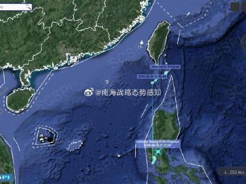 美侦察机结束对南海侦察后,疑似降落菲律宾空军基地