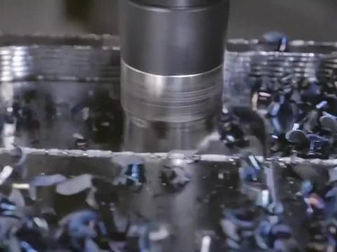 数控机床加工,10R与16R圆角铣削刀片加工视频