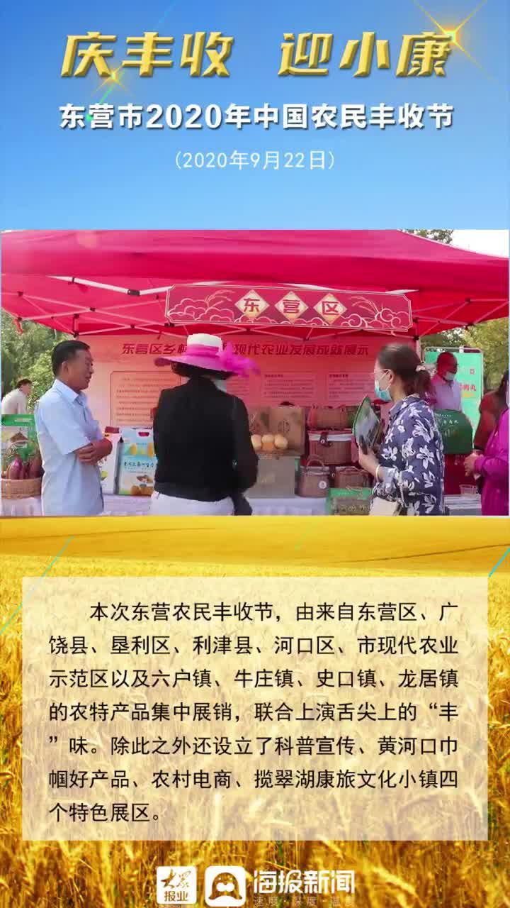 海报视频|一览东营市丰收节现场农特产品展销区及四个特色展区