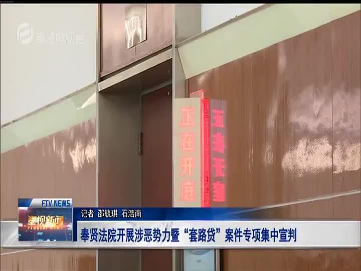 """奉贤法院开展涉恶势力暨""""套路贷""""案件专项集中宣判"""