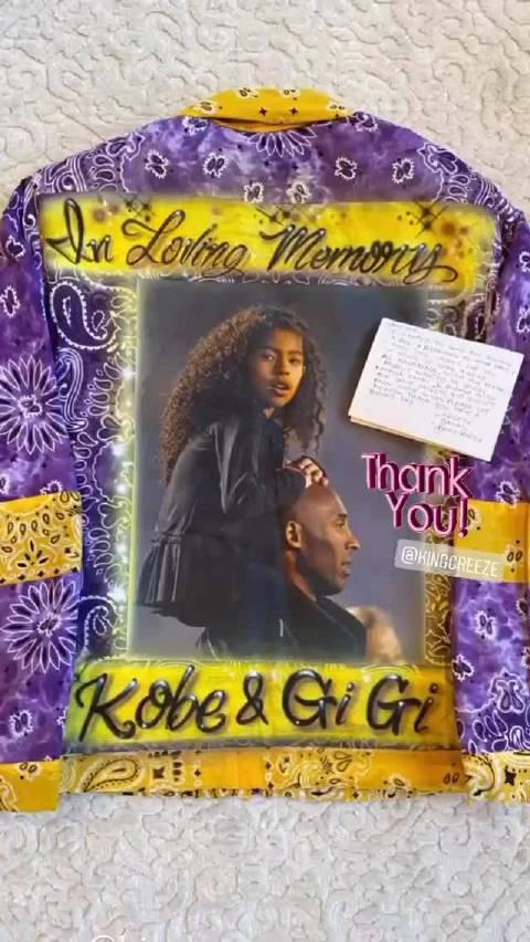 瓦妮莎更新ins晒出友人送的礼物,Kobe & Gigi
