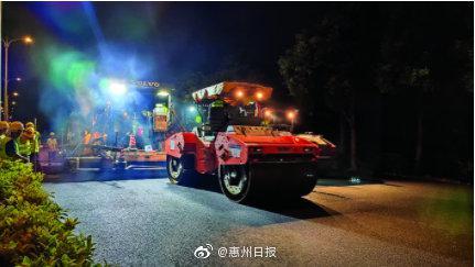 原惠南大道下月完成沥青摊铺