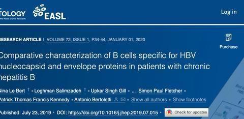 乙肝特异性研究,自然感染过程,两项抗体和B细胞数量功能相关
