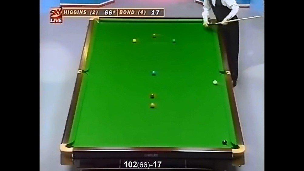 1996年英国公开赛决赛,希金斯vs邦德……