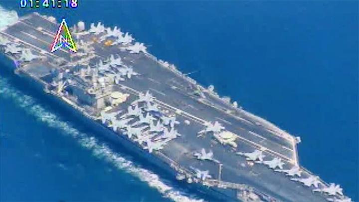 伊朗公布大量美军航母航拍画面 称所有舰艇进入波斯湾前就被锁定