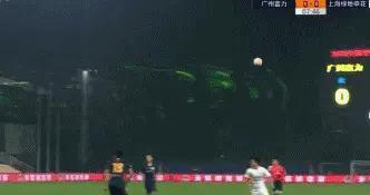 「GIF」彭欣力一传一射,上海申花2-0广州富力