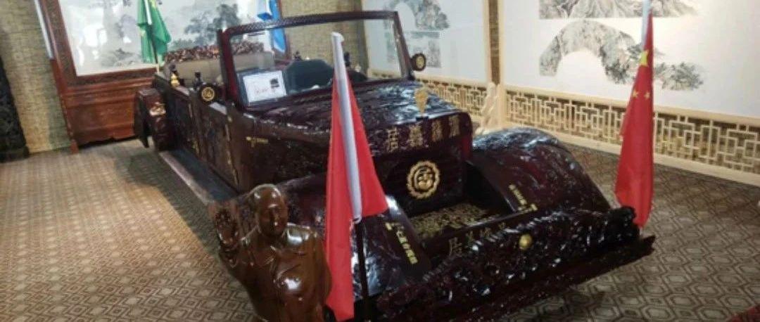 耗时15个月,用3吨红木,济南市民打造了一辆超豪华老爷车,还能开