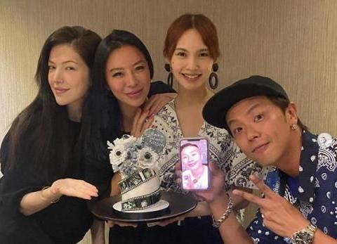 杨丞琳、许玮宁都笑了!华冈5人帮视频祝福小鬼爸爸60岁生日