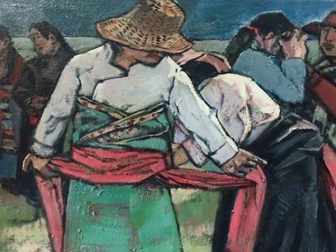 从西藏题材到语言建构──关于崔晓晓和他的绘画