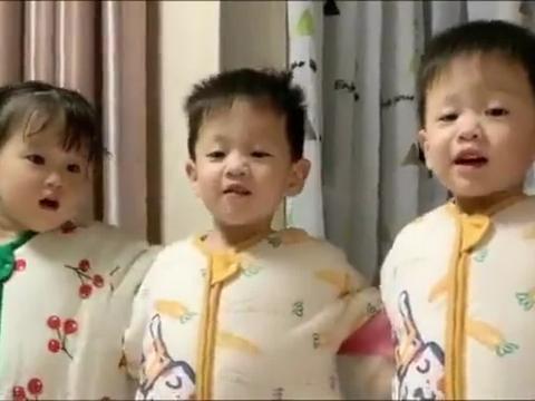 这爸妈上辈子积了多少德,这辈子一下子来了龙凤三胞胎,太幸福了