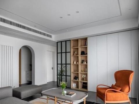 尹超杰作品:140㎡观江大平层,简约北欧+温润木质,自然放松的家