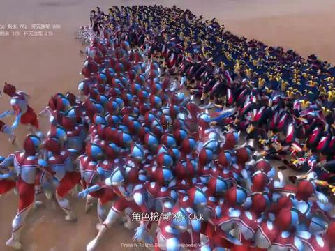 阿古茹奥特曼带领1000个维克特利,挑战奈克赛斯和1000个佐菲