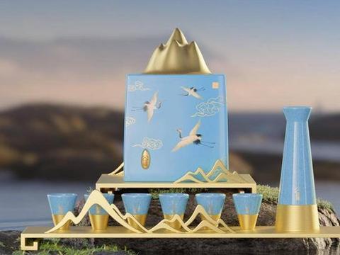 万里宋境版谷小酒开箱,把《千里江山图》意境发挥到极致