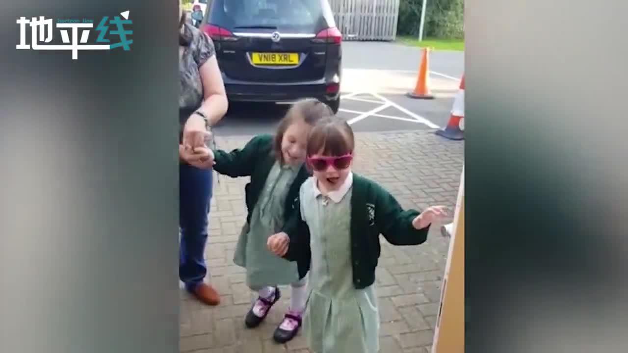 六岁截瘫女孩术后如愿以偿送妹妹上学 互相搀扶表情激动令人泪目