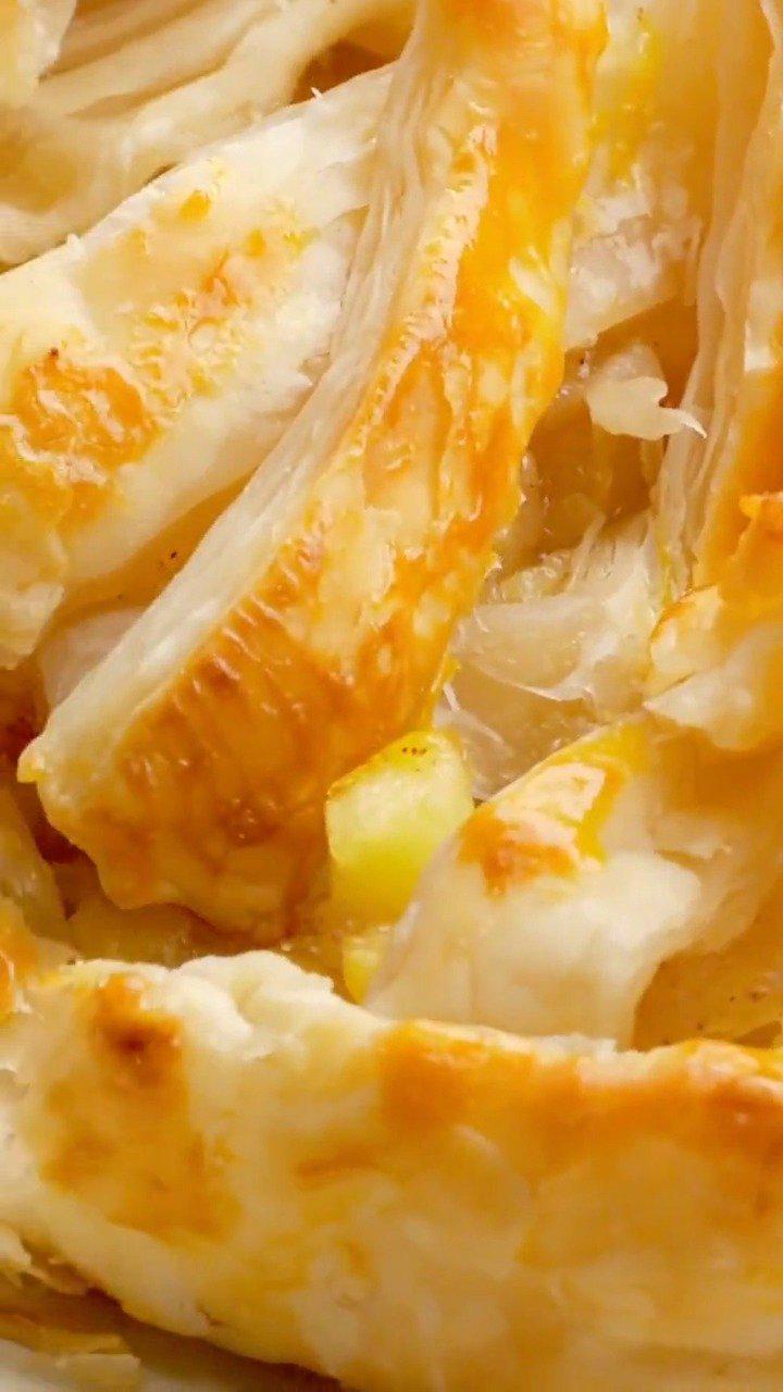 想吃苹果派怎么办?手抓饼就能做,外酥内软超好吃!