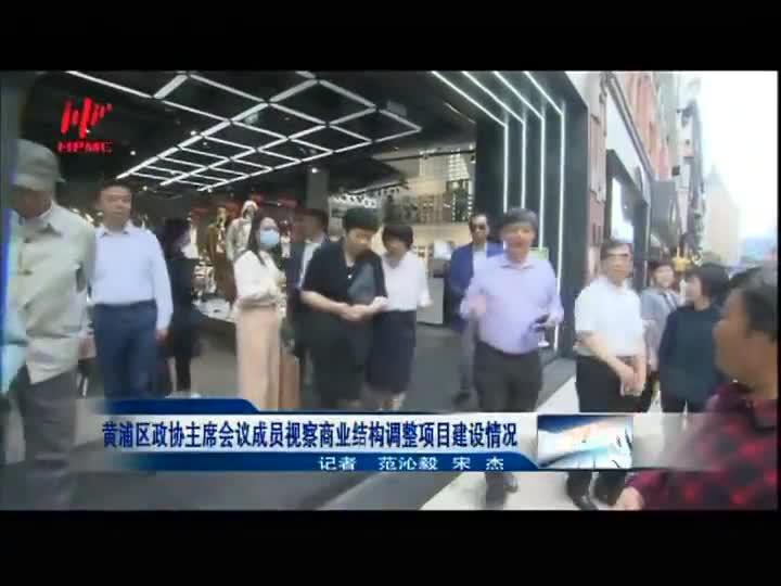 黄浦区政协主席会议成员视察商业结构调整项目建设情况