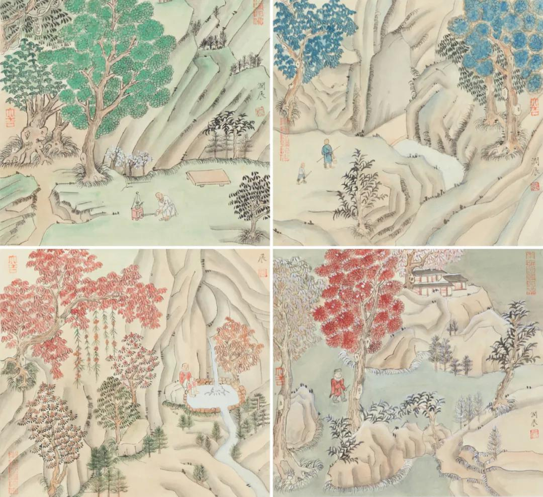 华润辰苏扬州人,南京艺术学院中国画硕士在读,师从张筱膺