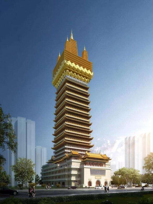 国内最高的寺庙:建成后将达173米如同写字楼,就在上海市区