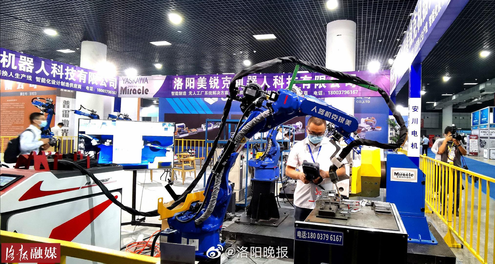 """""""智能化""""盛宴!第五届洛阳国际机器人暨智能装备展览会开展"""