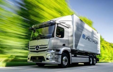 续航超500km!奔驰发布了eActros 第二代纯电动卡车