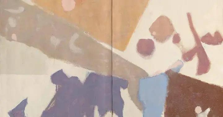 日裔美国艺术家Kenzo·Okada抽象表现主义风格绘画欣赏