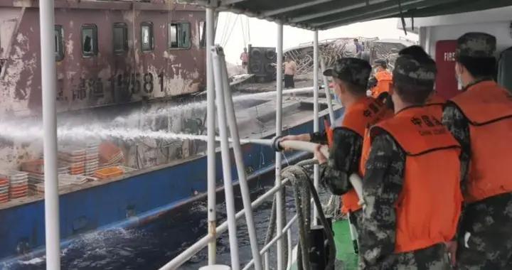 渔船失火紧急关头,辽宁海警来了……