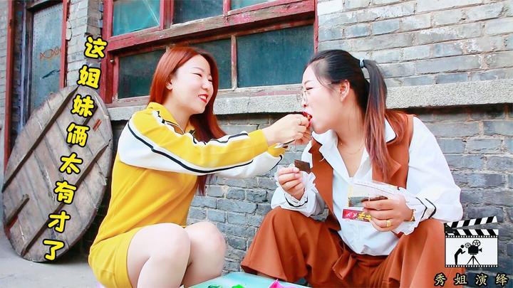 姐妹俩把零食当饭吃,没想到却长了一脸的痘痘,看以后还敢不敢吃