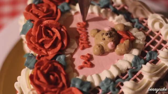 🧸制作复古小熊蛋糕的过程🍰 少女且复古的配色……