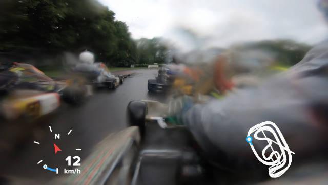 Cam卡丁日记 今天雨战x30卡丁车比赛车载 发车不错……