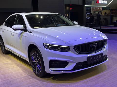 2020年北京车展:吉利星瑞实车现身,白色涂装很大气,配车载香薰