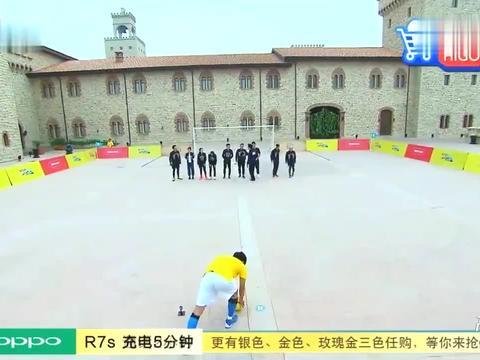 """奔跑吧:爆笑邓超摔倒变""""影帝""""碰瓷,大黑牛上演人工呼吸"""