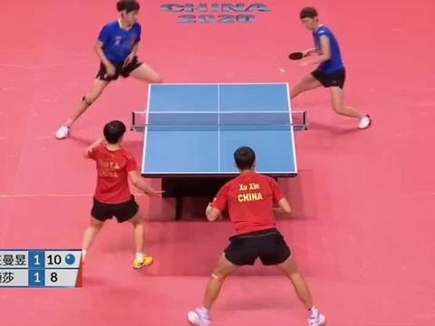 乒乓球东京模拟赛,王楚钦王曼昱发挥得真不错,连赢两局