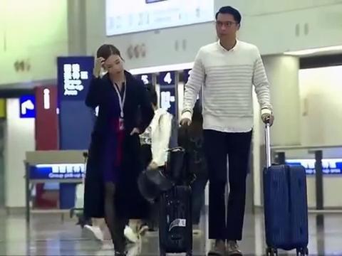小伙向空姐表白,眼看就要成功,却不知妻子就在后面观看