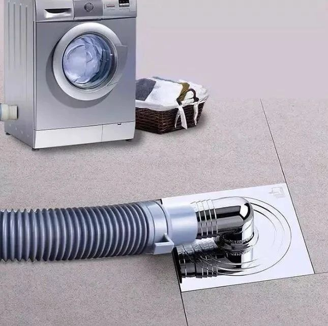 多数人洗衣机管直接插地漏? 看看高级怎么做