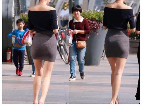 街拍包臀裙美女 行走间气质袭人很吸睛