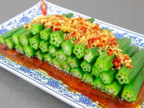 教你秋葵的新吃法,脆绿爽口,开胃解腻营养高,5分钟做一盘