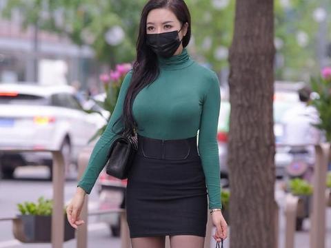 入秋偏爱成熟风,气质女生的半身裙穿搭,好看又气质
