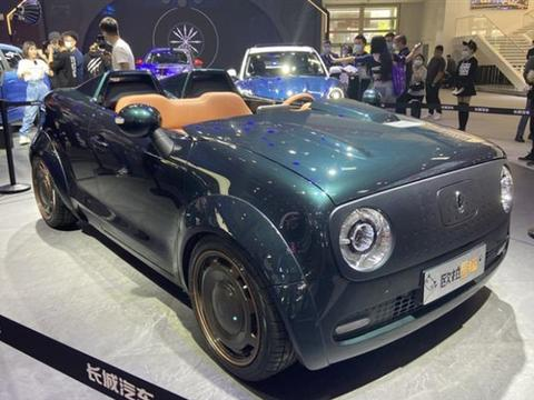2020北京车展,敞篷版欧拉黑猫,十足嬉皮士范儿
