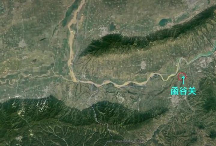 地图还原函谷关和潼关古代重要战争
